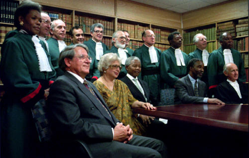 1995 - New Consitutional Court Judges and Speaker of Parliament - Frene Ginwala OSF-SA 25 years in South Africa