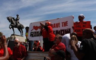 Right2Know Protest - Photo Credit Katherine Robinson News24 User